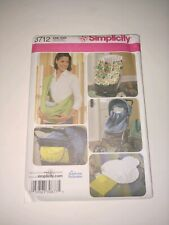 Simplicity 3712 Andrea Schewe Baby Accessories Seat Bunting Sling Changing Pad