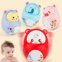 Baby Kid Rattles Tumbler Doll Toy Bell Music Learning Education Toy 0-12 Month W
