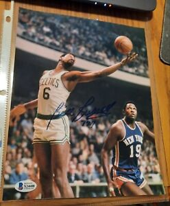 Autographed 8x10 Color Photo Boston Celtics HOFer Bill Russell Beckett/LOA