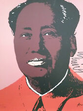 Andy Warhol- Mao Zedong-litografia cm 60x60- CMOA