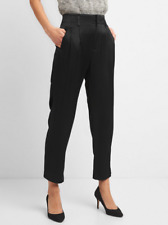 GAP Pleated Trousers in Satin Black Size 4 R