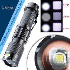 3000 Lumens Adjustable Focus 3-Modes CREE XML XM-L T6 LED Flashlight Torch Lamp