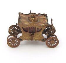 Antique Sewing Tape Measure British Coronation Coach Figural Gilt Metal