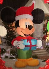 NEW Mickey Mouse Airblown Christmas Inflatable 9 ft tall Present Gift Santa Hat