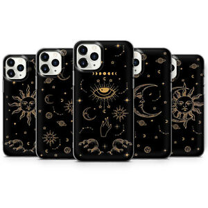 Sun and Moon Phone cases Zodiac Tarot covers Astrology Evil eye fit iPhone X, 12