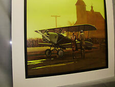 Argo Bluebird Sport Biplane 1976  Exhibit Color artist illustrated Barnstormers