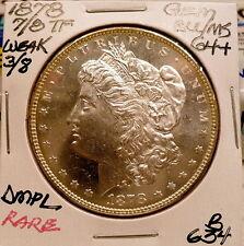 1878-P 7/8 TF MORGAN SILVER DOLLAR, GEM BU/MS DMPL-RARE+, AWESOME NICE+ B634