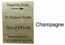 Personalised Metal Door Sign Directional Signs for Surgery, Hotel, Business etc