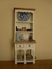 Dollshouse Miniatura ~ Ivory & Rovere chiaro ~ CUCINA CREDENZA e accessori