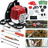6 in 1 Petrol Hedge 52cc Trimmer Grass Pruner Chainsaw Strimmer Brush Cutter US