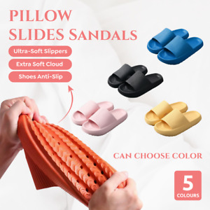 PILLOW SLIDES Sandals Ultra-Soft Slippers Extra Soft Cloud Shoes Anti-Slip