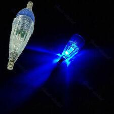 LED Mini Deep Drop Underwater Fishing Squid Bait Lure Light Blue Flashing Light