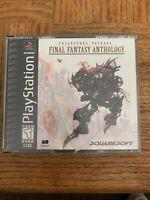 Final Fantasy Anthology Playstation Game