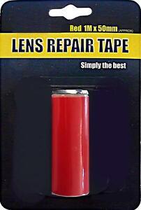 Broken Cracked Split Damaged Light Lens Repair Accident Tape Fix Red Brake Fog