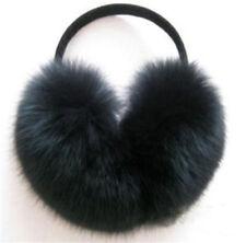 Winter Real Farm Fox Fur Earmuffs Wrap Around Ear Warmers Outdoor Warm Xmas Love