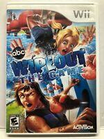 Nintendo Wii ABC Wipeout The Game Complete Video Game - Complete - Free Ship