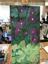 Purple Chrysanthemums Painting