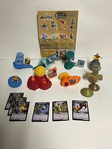 2006 Avatar The Last Airbender Burger King Toys Lot of 8 Toys with Some Cards