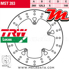Disque de frein Avant TRW Lucas MST 393 Gilera 300 Nexus, ie (M35) 2014