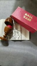 Classic Magic Wooden Ball and Vase. Sam Dallal Original With Instructions