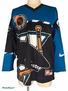 VINTAGE NIKE SAN JOSE SHARKS USA NHL Ice Hockey Player Shirt Team Jersey Mens S