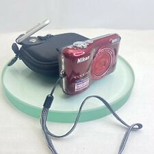 NIKON COOLPIX L28 DIGITAL CAMERA  20.1MP 5x ZOOM - Red, TESTED #319