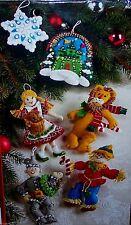 "Bucilla ""WIZARD of OZ"" Felt Christmas Ornaments Kit RARE Dog Girl~Factory Direct"