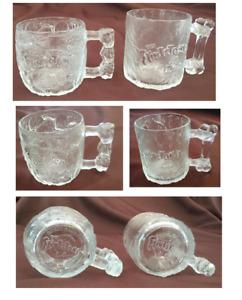 VINTAGE McDonalds 1993 FLINTSTONES Glass Mugs 2-Piece Set