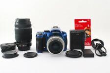 PENTAX K-30 16.3MP 35-80/55-300mm Lens Blue [Exc+++] w/8GB SD Card Japan [5494]