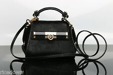 NWT $1790 Salvatore Ferragamo Mini Sofia Crossbody Bag HAIR in CALF BLACK