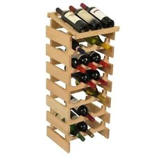 Wooden Mallet 18 Bottle Dakota Wine Rack with Display Top Unfinished NEW