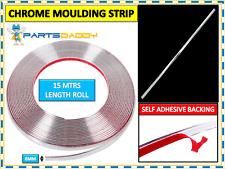 6MM x 15M CHROME STYLING MOULDING TRIM STRIP SELF ADHESIVE - METRE METERS WINDOW