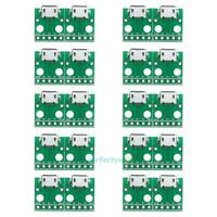 10Pcs Stable MICRO USB to DIP Adapter 5Pin Female Connector B Type PCB Converter