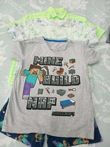 boys' Clothes Summer T-shirt bundle next & nutmeg Age 9 Years sloth's Minecraft