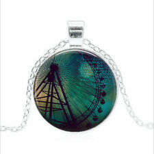 dome Necklace chain Pendant Wholesale Ferris Wheel Tibet silver Glass
