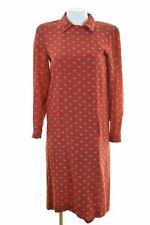 VALENTINO Womens Shirt Dress IT 44 Medium Red Silk Vintage JA05