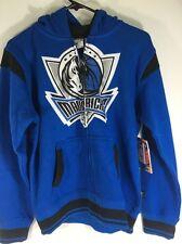 Dallas Mavericks Zipway Full Zip Hooded Sweatshirt NWT Youth Large