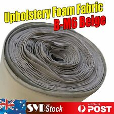 Beige Roof Lining Headliner Cloth Upholstery Fabric Foam Backed 1.51M x 3.5M DIY