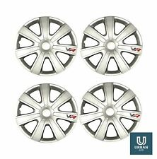 """Wheel Trim Cover Chromia 14"""" To Fit Seat Cordoba Estate Silver Carbon Set Of 4"""