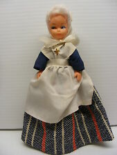vintage religious white hair  8in. WOMEN DOLL with Cross pin, hong kong