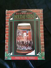 1997 Budweiser Beer Mugs Steins Holiday Stein Home for the Holidays. Great find