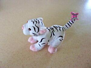 "Mattel white tiger kitty  small stuffed plush 2000 Barbie ? 5"" long Butterfly"