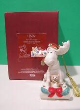 Lenox 2011 annual Moose Ornament New in Box Merry Moosecapades Sled