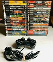 Lot of 40 PS2 Rare Retro Video Games w/ PS2 Controller (Vintage Games)