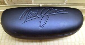 Rare Vintage Unused Maui Jim Blue Leather Sport Titanium Hard Shell Case