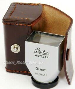 Leitz SBKOO LEICA 21mm Finder & Case for Elmarit-M 21mm Super-ANGULON 1:3.4/21mm