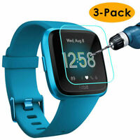 3 Pack 9H Clear Tempered Glass Film Screen Protector For Fitbit Versa Lite Watch