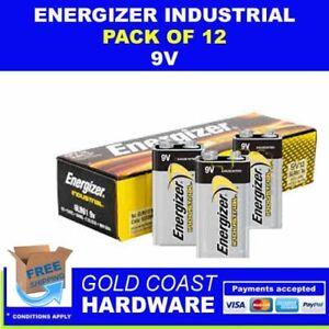 ENERGIZER INDUSTRIAL BATTERIES 9V 12 PACK