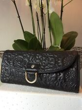 Ted Baker Clutch/Evening Bag, Leather, Black, Quilted, Size Small