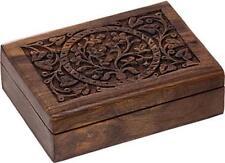 """7"""" x 5"""" Tree of Life Wooden Tarot Lined Box!"""